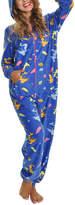 Angelina Blue Mermaid Hooded Fleece Pajama Jumpsuit
