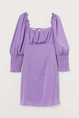 H&M Back-laced Dress - Purple