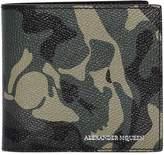 Alexander McQueen Skull Camouflage Coated Leather Wallet