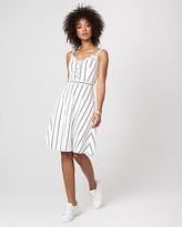 Le Château Stripe Cotton Sateen Fit & Flare Dress