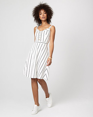 Le Château Stripe Cotton Sateen Fit & Flare Dress