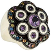 MCL by Matthew Campbell Laurenza Multicolor Sapphire & Amethyst Floral Ring