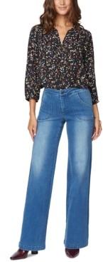 NYDJ Petite Teresa Wide-Leg Tummy-Control Jeans