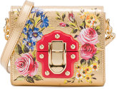 Dolce & Gabbana Mini Rose Painted Lucia Bag - women - Leather - One Size