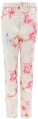 Isabel Marant Eloisa High-rise Tie-dye Denim Jeans - Ivory Multi