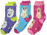 Socksmith Reigning Cats Dogs (Toddler/Little Kid/Big Kid) (Variety) Crew Cut Socks Shoes