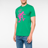 Paul Smith Men's Slim-Fit Green 'One Way' Print Supima-Cotton T-Shirt