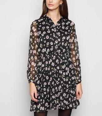New Look Influence Floral Skater Shirt Dress