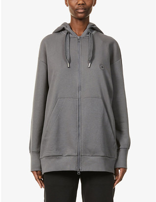 adidas by Stella McCartney Full-zip cotton and recycled-polyester blend hoody