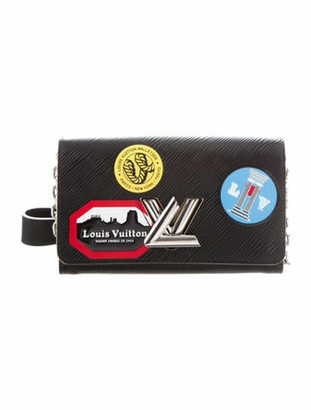 Louis Vuitton World Tour Epi Twist Chain Wallet Black
