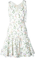 Giambattista Valli floral flared dress - women - Silk/Polyamide - 40