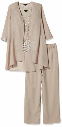 Le Bos Women's Sequin Embroidery Jacket Pantset