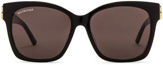 Balenciaga Square Vintage Sunglasses in Black | FWRD