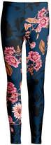 Lily Women's Leggings NVY - Navy & Pink Floral Leggings - Women & Plus