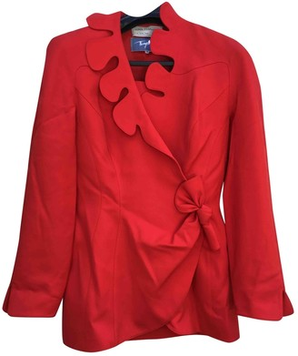 Thierry Mugler Red Wool Jackets