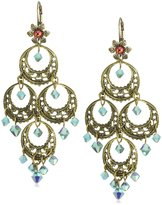 "Liz Palacios Crystales Opalos"" Turquoise-Color Crystal Chandelier Earrings"