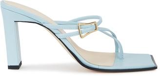 Wandler Yara light blue leather sandals