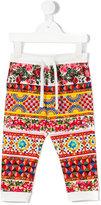 Dolce & Gabbana Carretto Con Rose trousers - kids - Spandex/Elastane - 6-9 mth