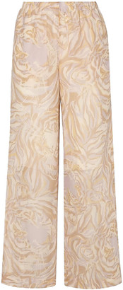 See by Chloe Printed Silk-chiffon Wide-leg Pants