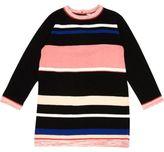 River Island Mini girls black stripe knit dress