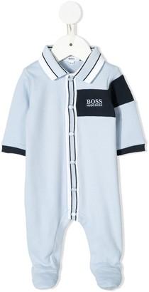 Boss Kids Logo Embroidered Babygrow