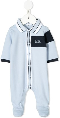 Boss Kidswear Logo Embroidered Babygrow