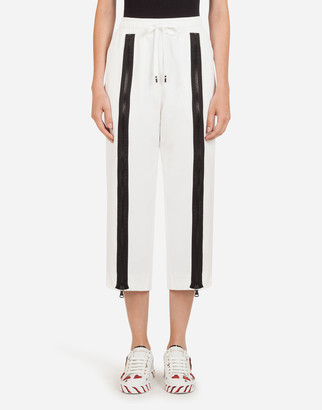 Dolce & Gabbana Cady Pants With Bands And Zipper