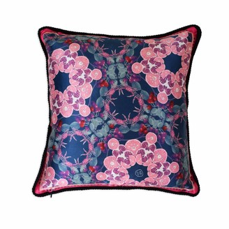 Texas And The Artichoke Cherry Punch Silk & Velvet Cushion