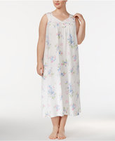 Charter Club Plus Size Printed Cotton Knit Nightgown, Created for Macy's