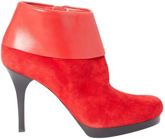 Balenciaga Red Suede Boots