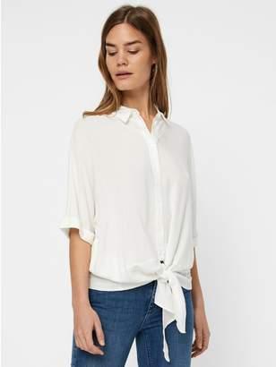 M&Co Vero Moda tie front shirt