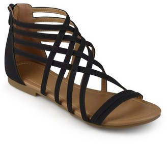 Brinley Co. Wide Width Strappy Gladiator Flat Sandals (Women's)