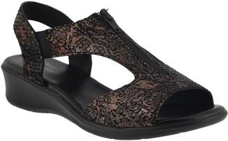 Spring Step Leather Zip-Up Sandals - Viki
