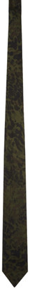 Dries Van Noten Green Camo Silk Tie