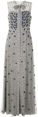 Fendi Pre-Owned Floral Applique Dress