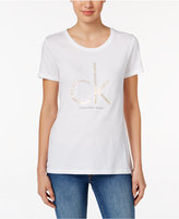 Calvin Klein Jeans Metallic Logo Graphic T-Shirt