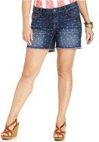 Lucky Brand Plus Size Shorts, Ginger Star-Print Denim