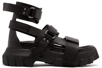 Rick Owens Tractor-sole Leather Sandals - Womens - Black
