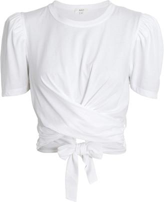 A.L.C. Monica Wrap Cotton T-Shirt