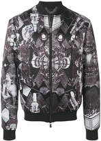 Frankie Morello space Egypt print bomber jacket