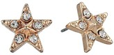 Betsey Johnson Star Stud Earrings (Crystal) Earring