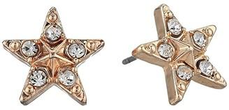 Betsey Johnson Star Stud Earrings (Crystal) Earring