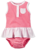 Carter's Dots & Striped Skirted Sunsuit, Baby Girls (0-24 months)