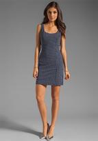 Milly Italian Wavestitch Marla Slim Tank Dress