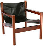 Ave Home Anders Lounge Chair - Black Leather