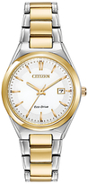 Citizen EW1974-54A Women's Two Tone Bracelet Strap Watch, Gold/Silver