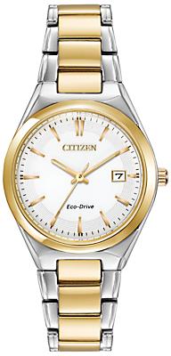 Citizen EW1974-54A Women's Two Tone Bracelet Strap Watch, Gold/Silver
