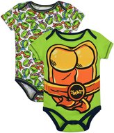 Nickelodeon Baby Boys' Ninja Turtles 2-Pack Onesies