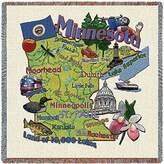 Pure Country Inc. Minnesota State Small Blanket Tapestry Throw