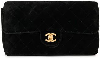 Chanel Pre Owned 1995 Diamond Quilted Velvet Backpack